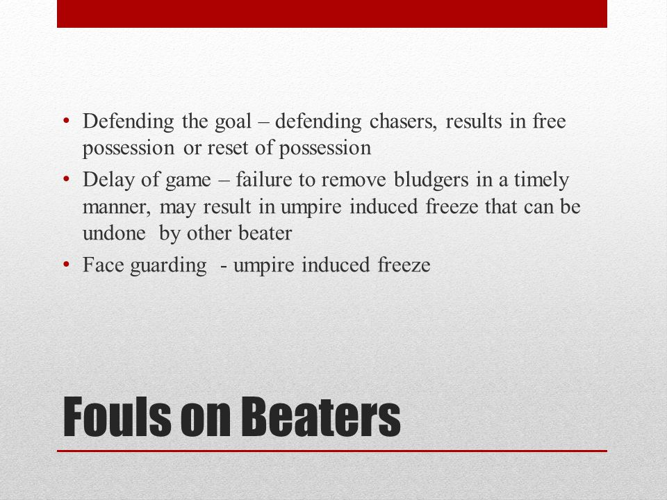 Defending the goal – defending chasers, results in free possession or reset of possession