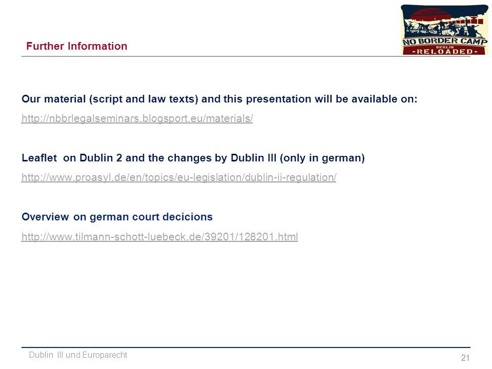 Dublin III und Europarecht