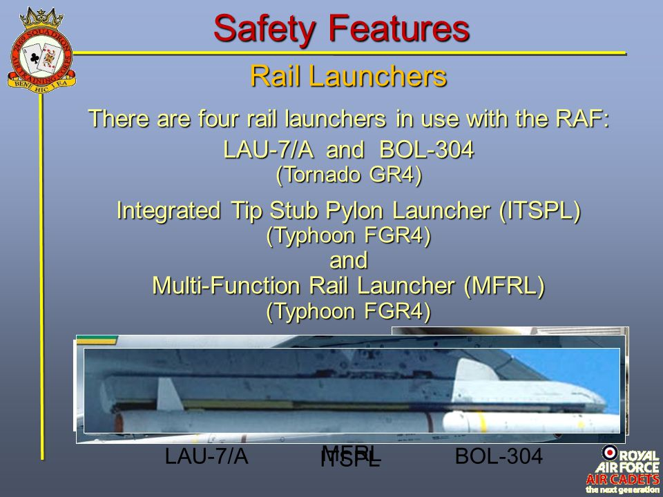 Safety Features Rail Launchers