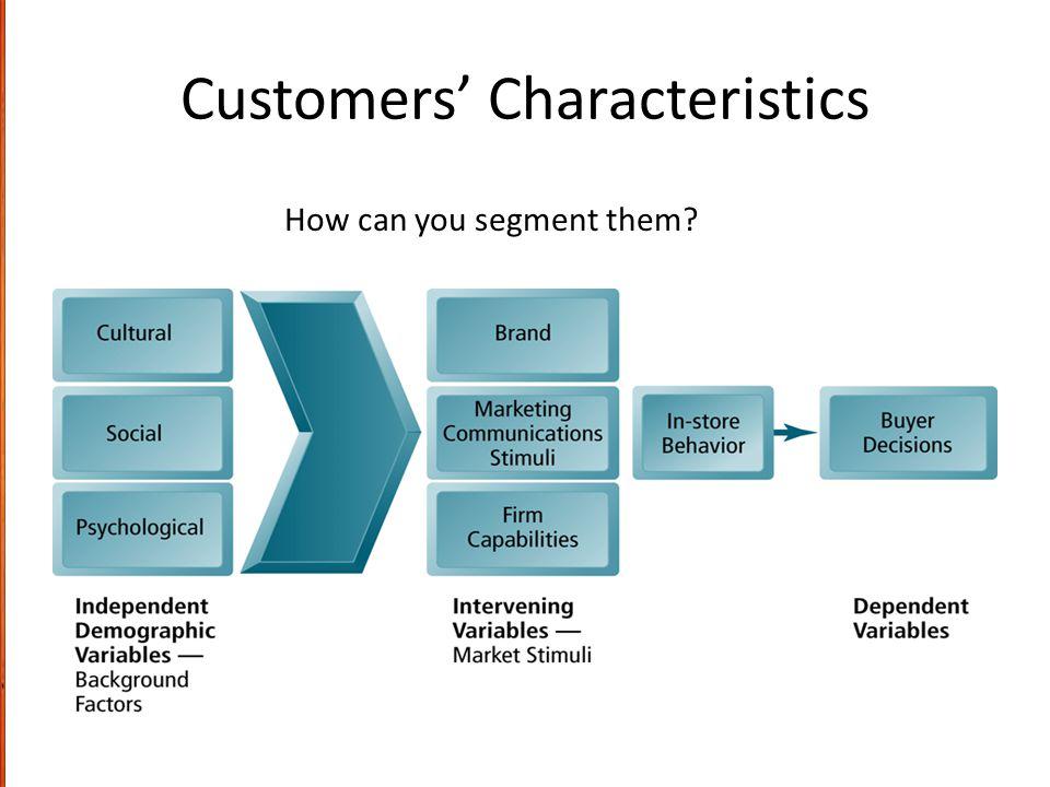 Customers' Characteristics