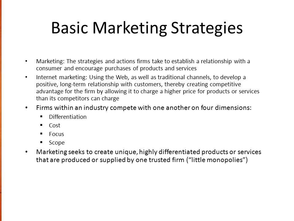Basic Marketing Strategies
