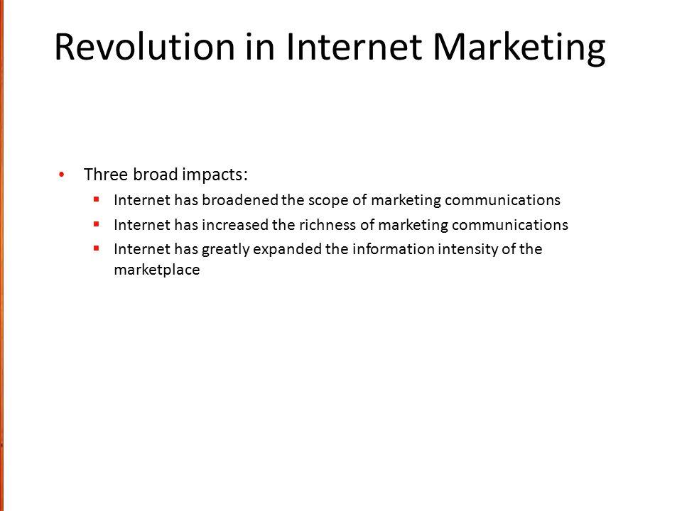 Revolution in Internet Marketing