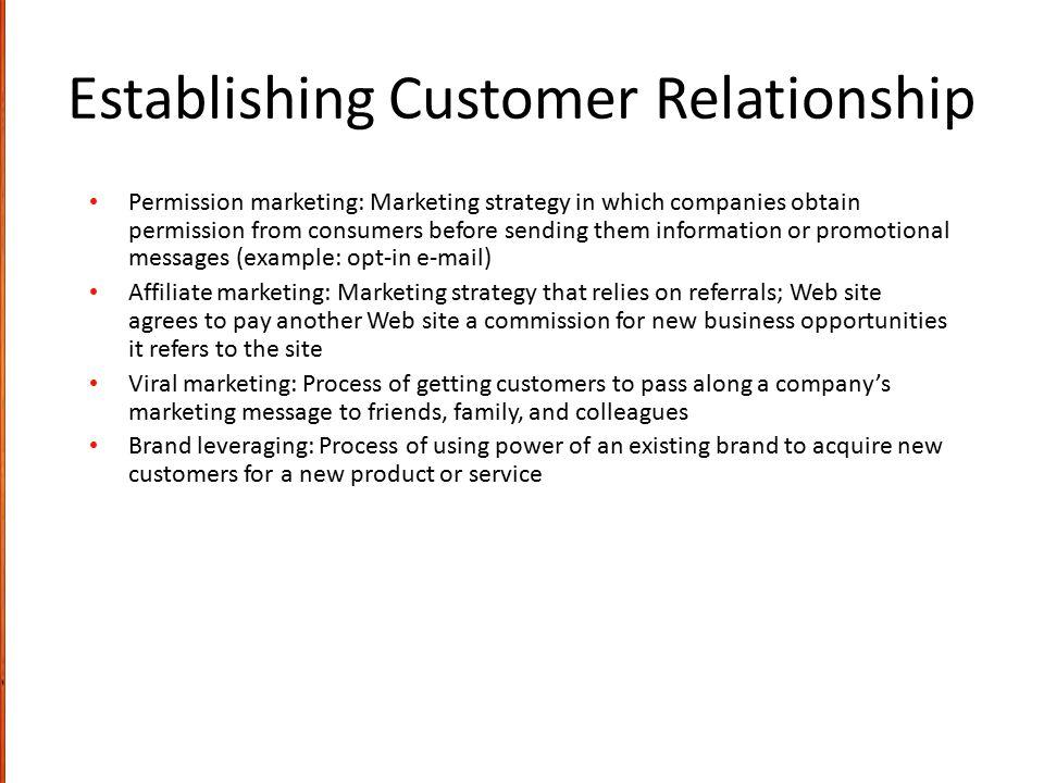 Establishing Customer Relationship