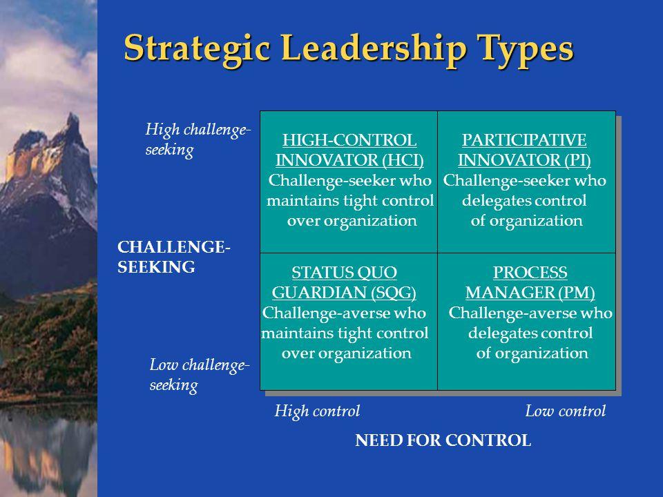Strategic Leadership Types