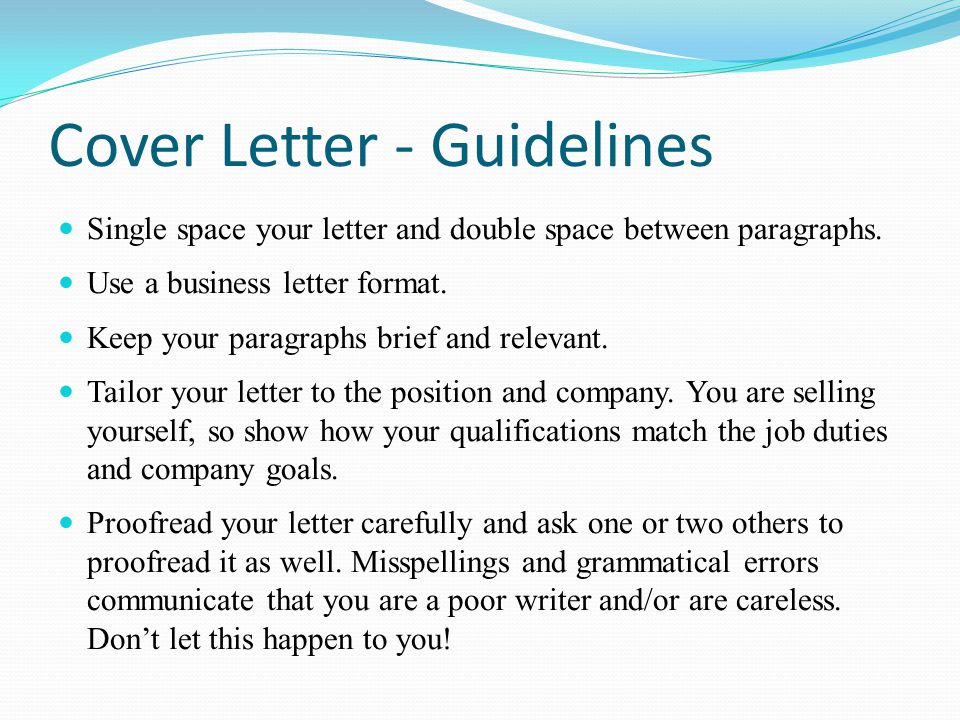 Cover Letter Essay
