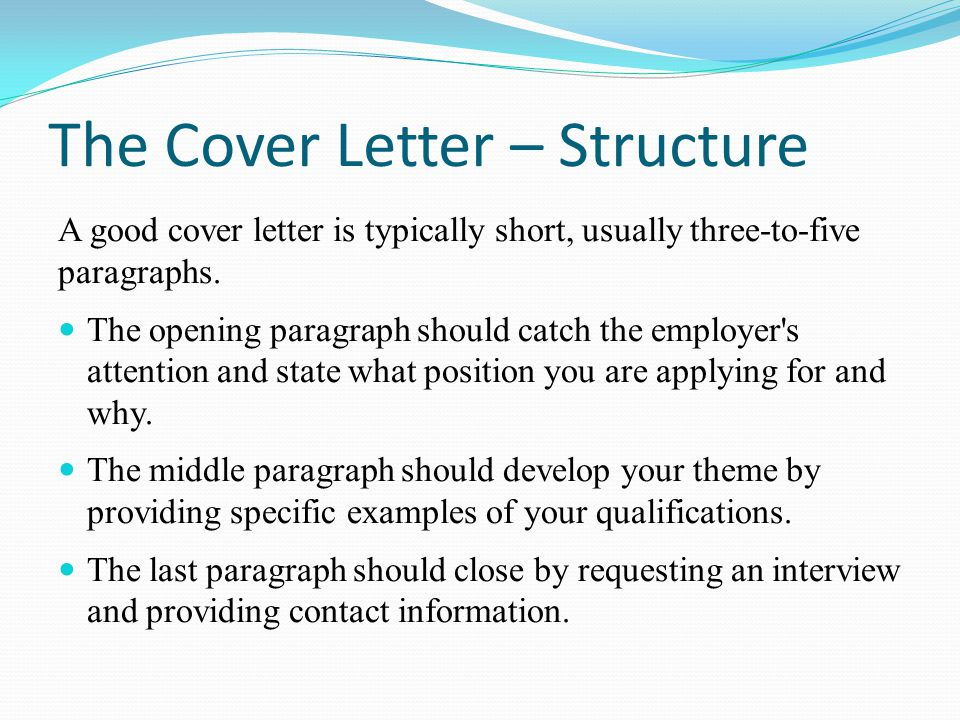 Career project part iii ppt video online download for Final paragraph of a cover letter