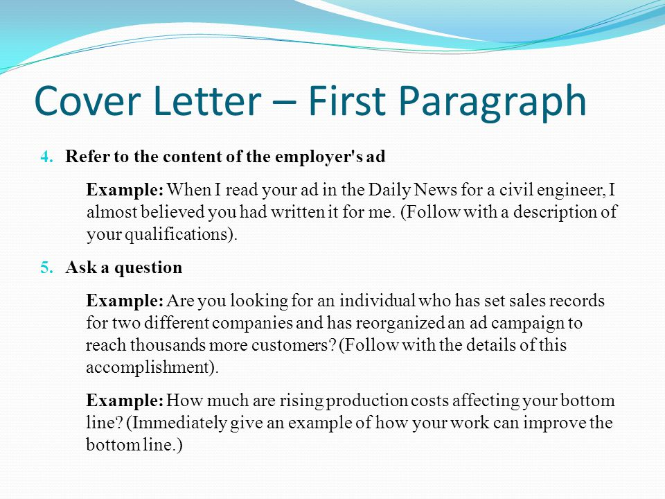 What to Include in the Body Section of a Cover Letter