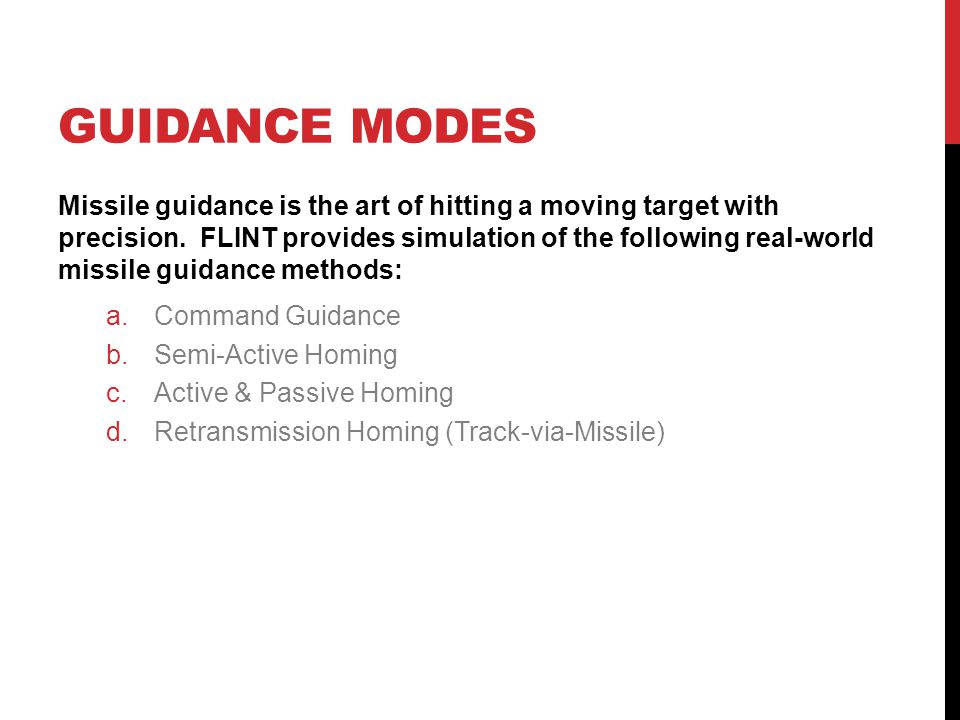 Guidance modes