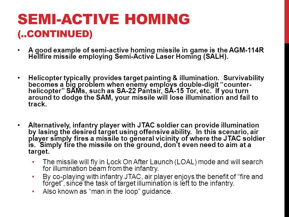 SEMI-ACTIVE HOMING (..continued)