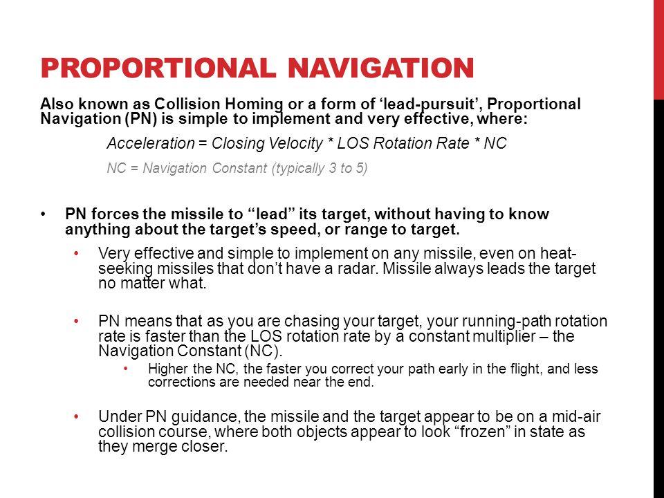 Proportional navigation