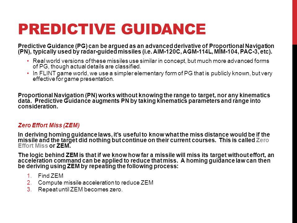 PREDICTIVE GUIDANCE