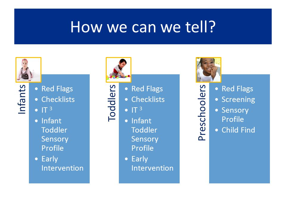 How we can we tell Infants Red Flags Checklists IT 3