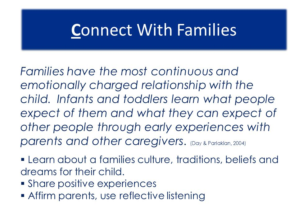 Connect With Families
