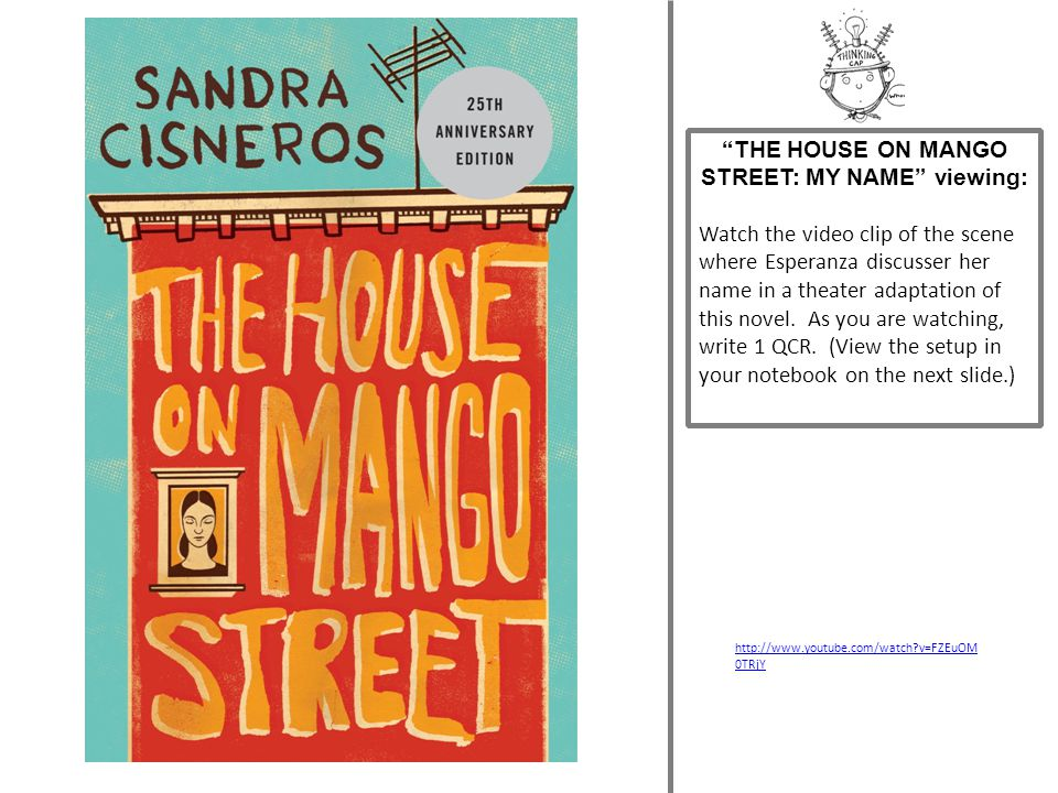 THE HOUSE ON MANGO STREET: MY NAME viewing: