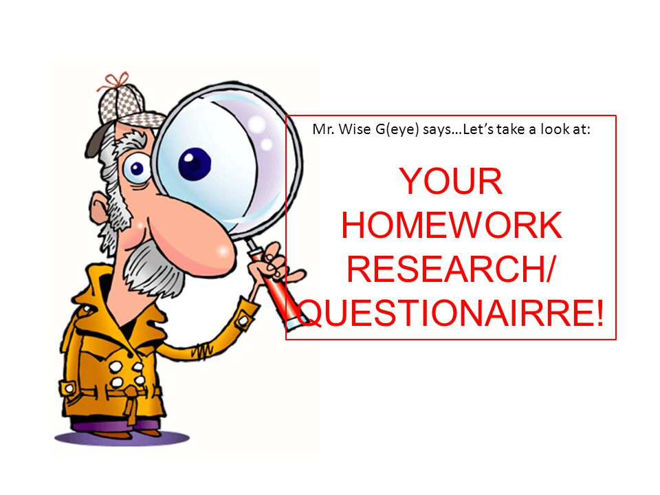 YOUR HOMEWORK RESEARCH/