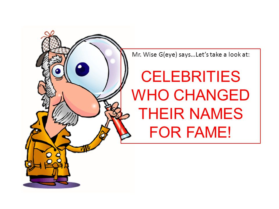 CELEBRITIES WHO CHANGED THEIR NAMES FOR FAME!