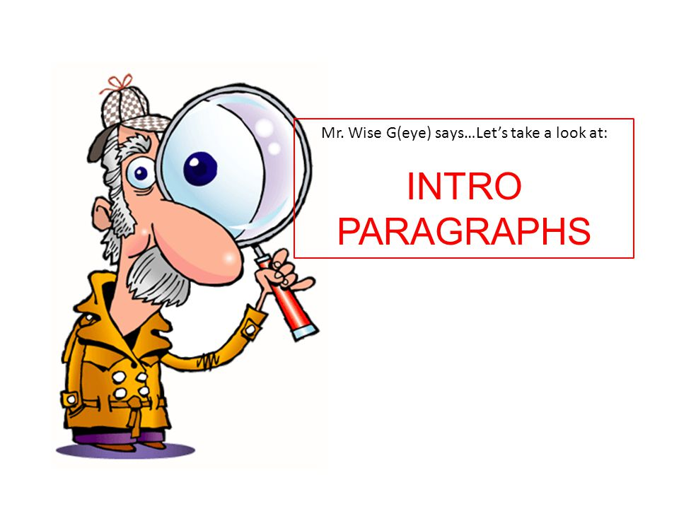 Mr. Wise G(eye) says…Let's take a look at: