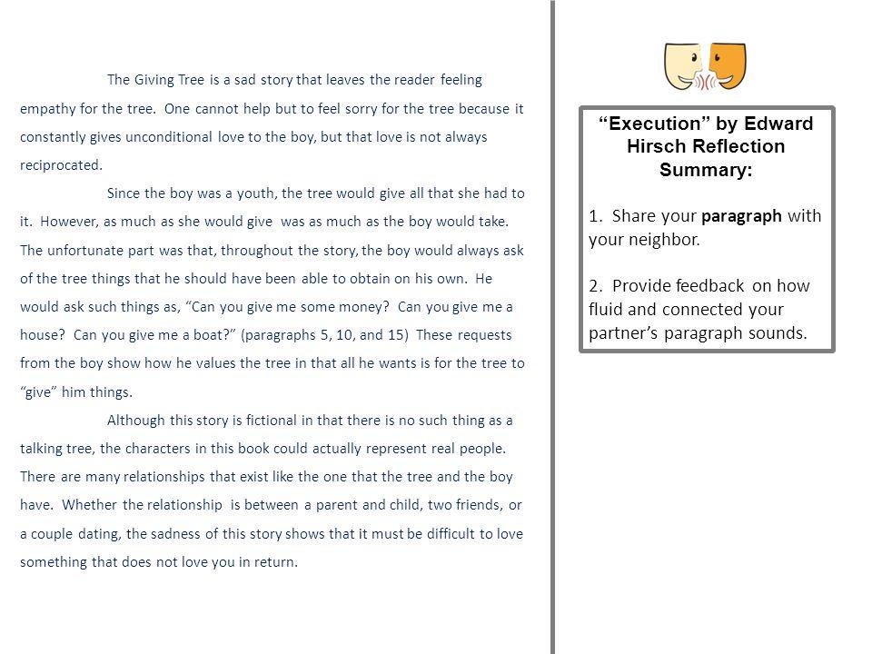 Execution by Edward Hirsch Reflection Summary: