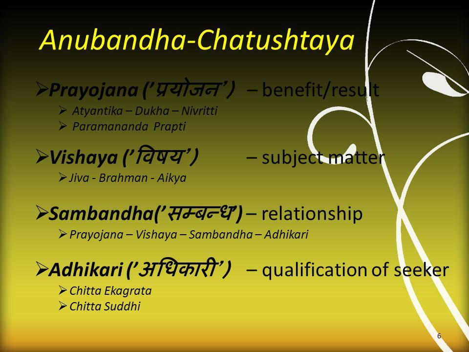 Anubandha-Chatushtaya