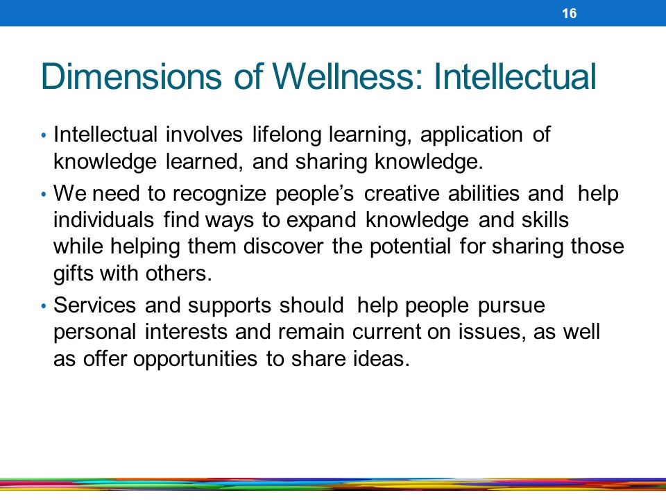 Dimensions of Wellness: Intellectual