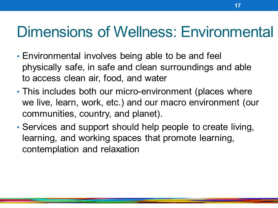 Dimensions of Wellness: Environmental