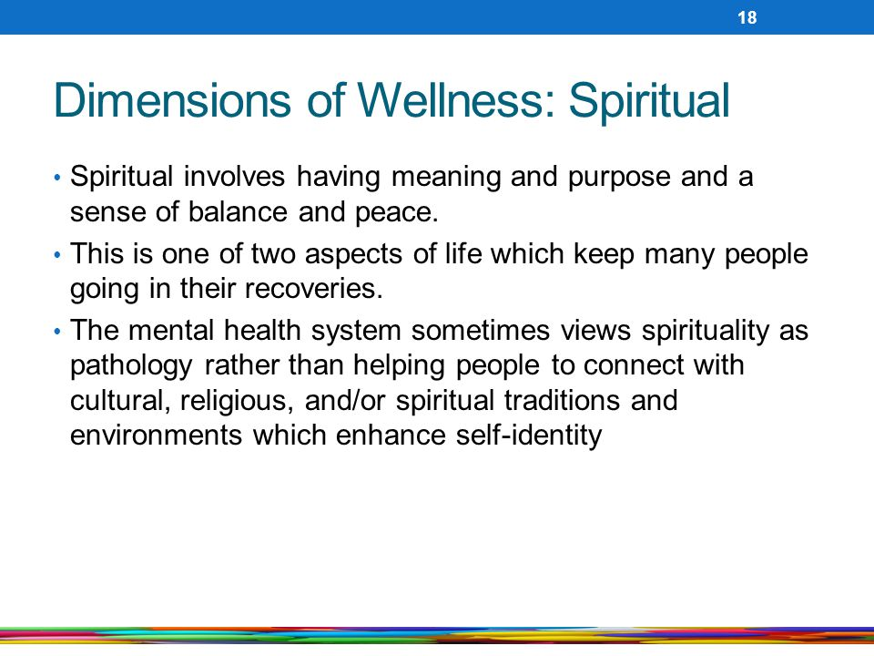 Dimensions of Wellness: Spiritual