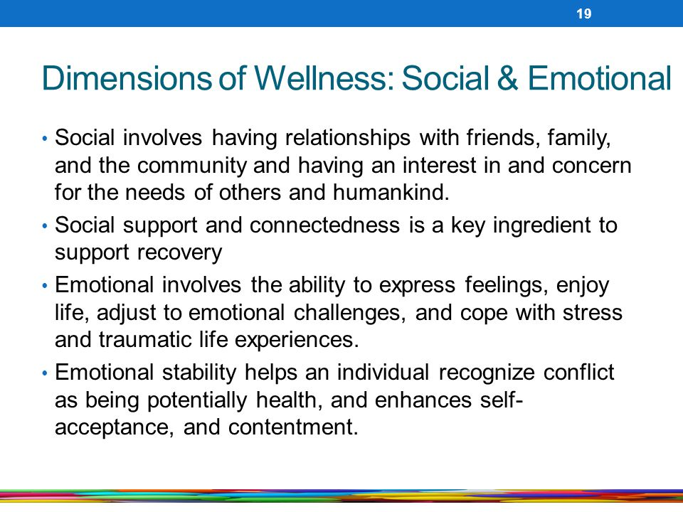 Dimensions of Wellness: Social & Emotional