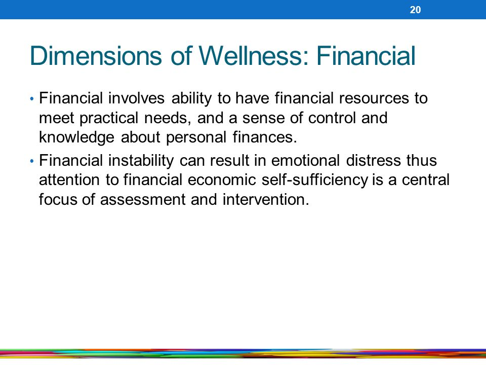 Dimensions of Wellness: Financial