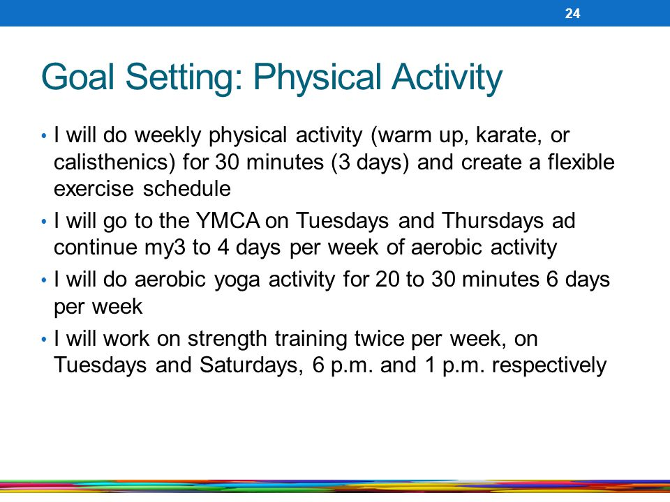Goal Setting: Physical Activity