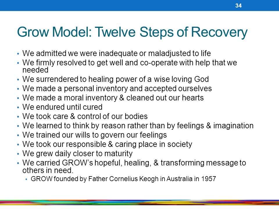 Grow Model: Twelve Steps of Recovery