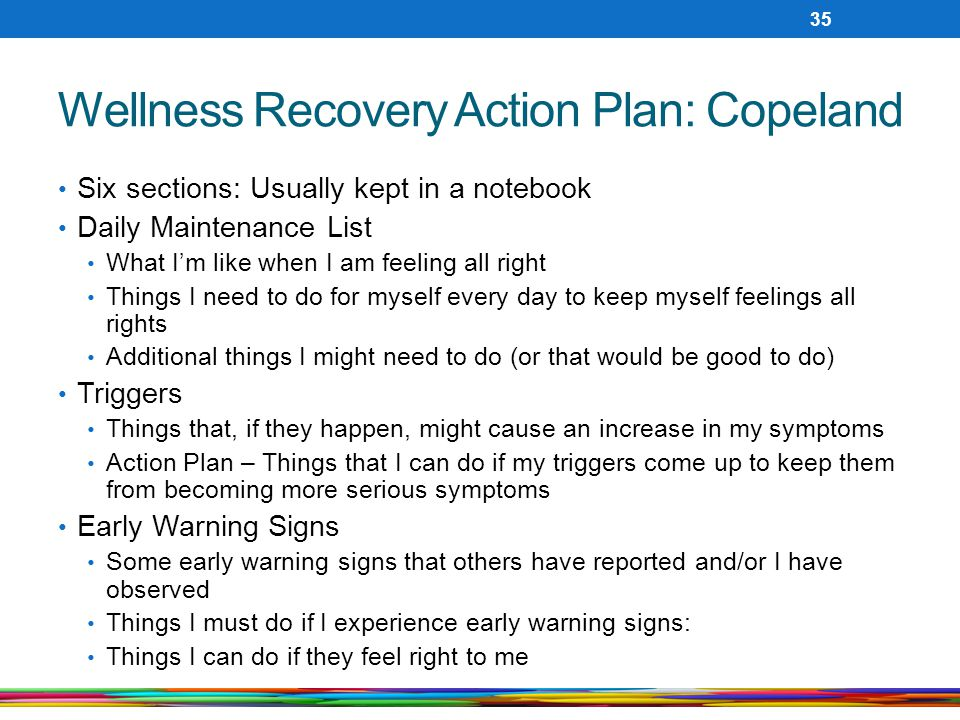 Wellness Recovery Action Plan: Copeland