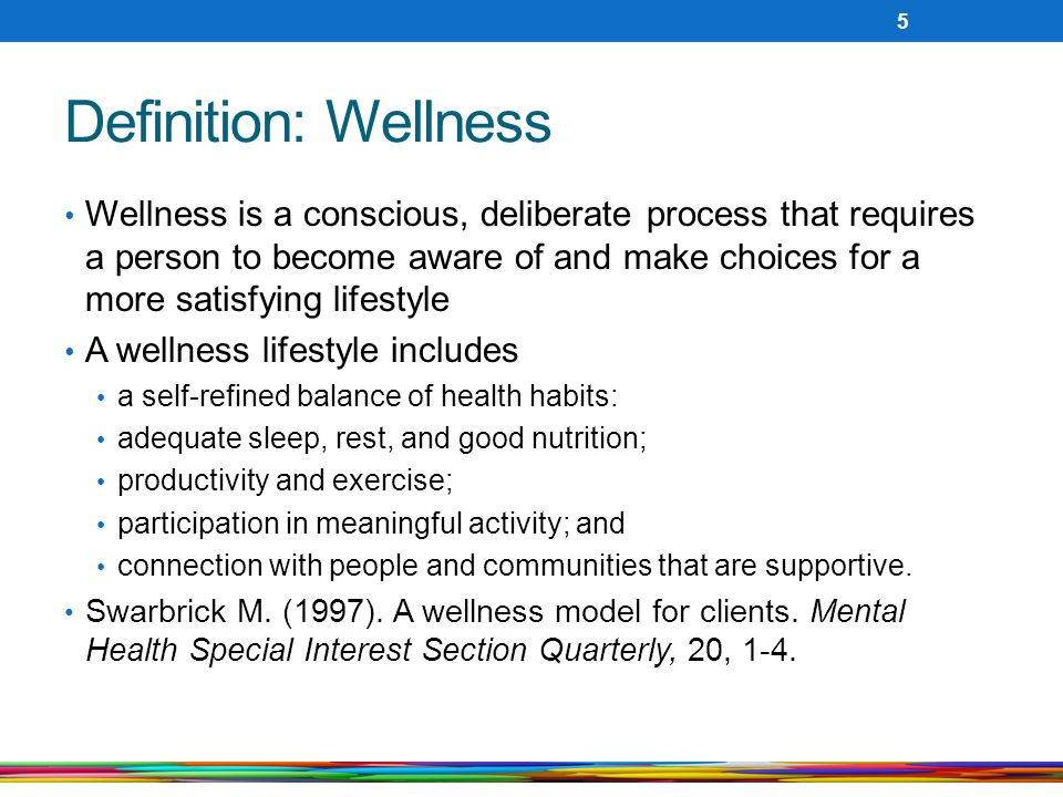 Definition: Wellness