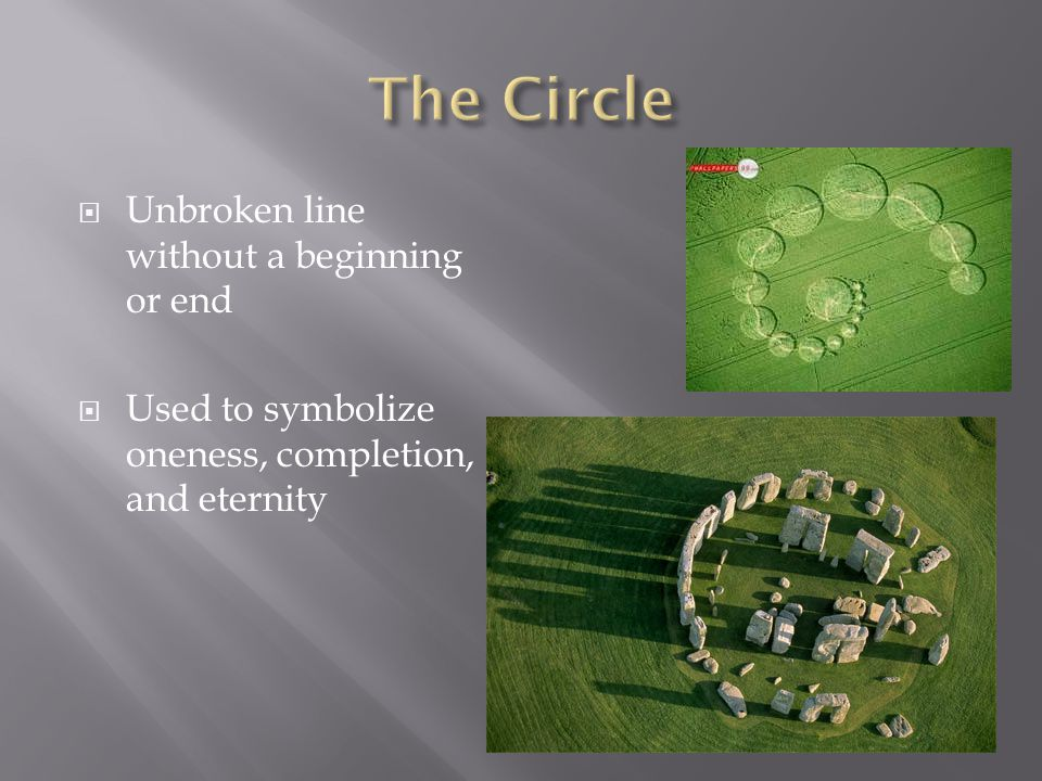 The Circle Unbroken line without a beginning or end