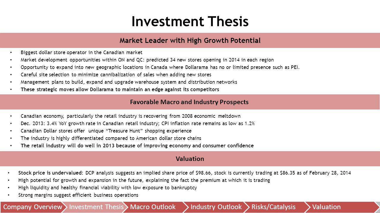 What is an 'Investment Thesis'