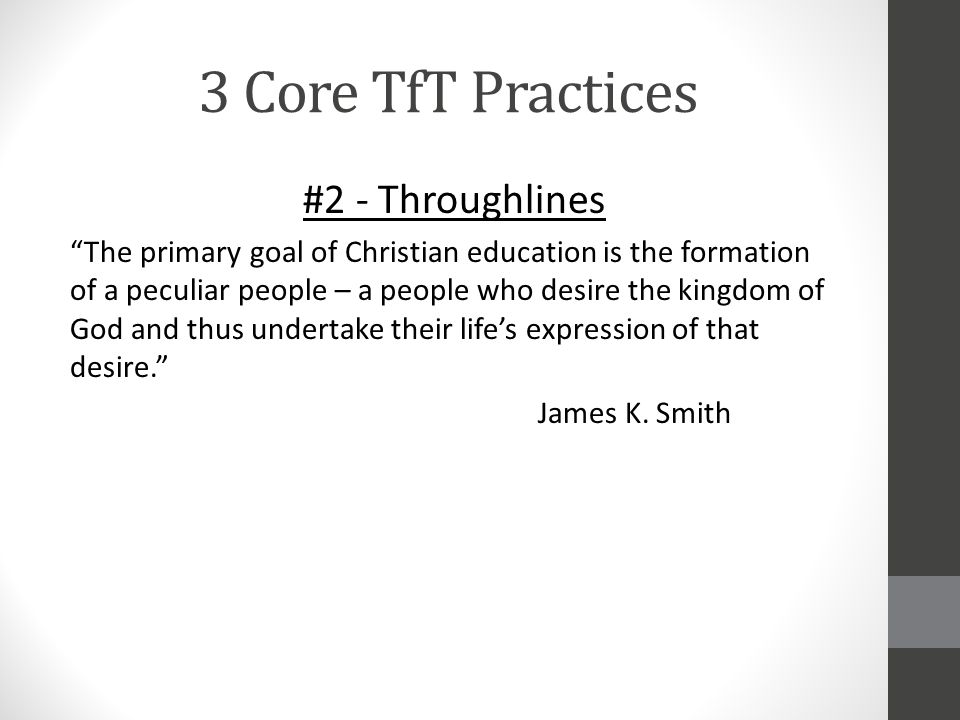 3 Core TfT Practices #2 - Throughlines