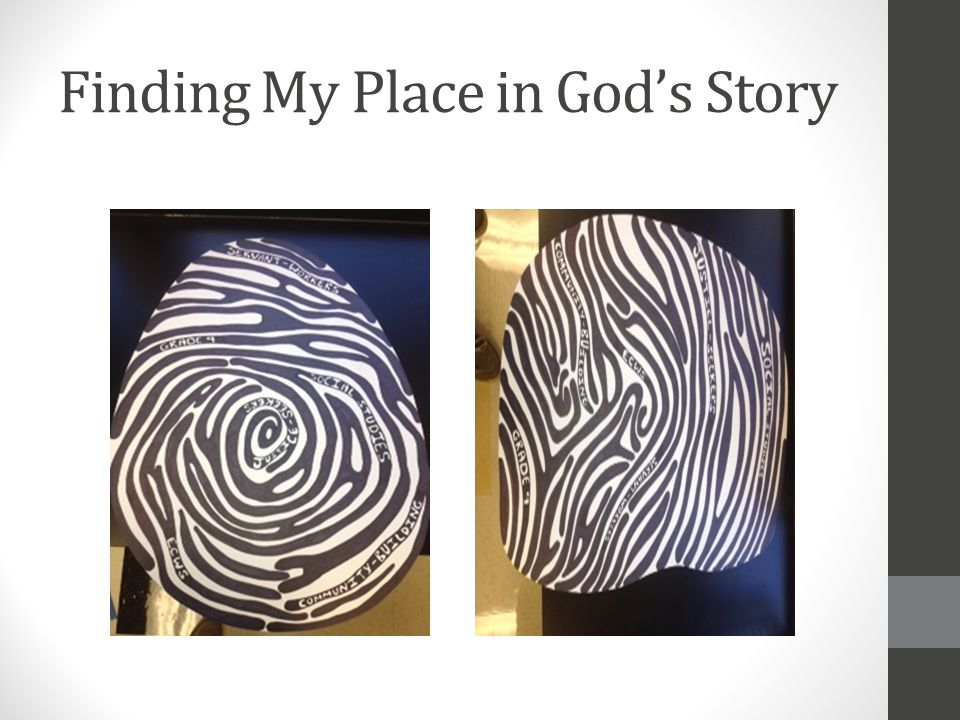 Finding My Place in God's Story
