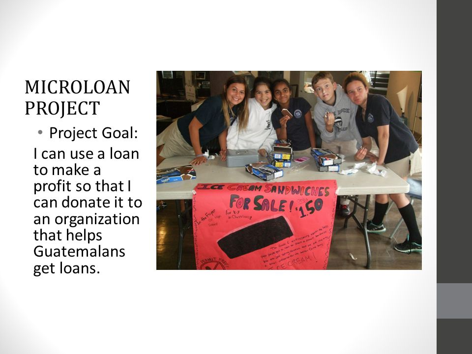 Microloan project Project Goal: