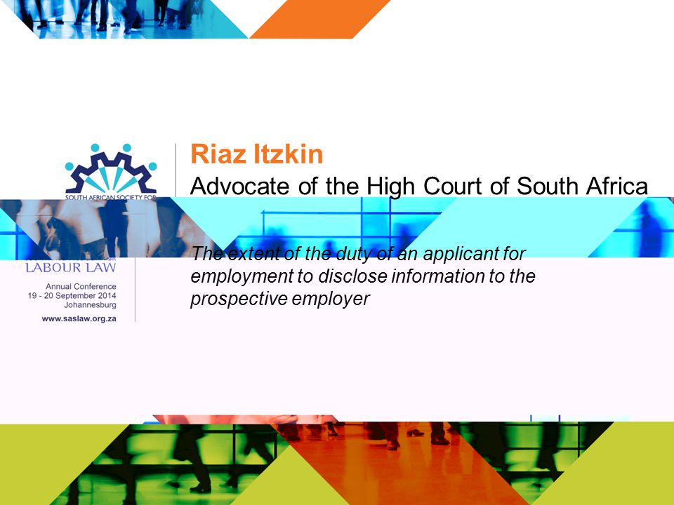 Advocate of the High Court of South Africa