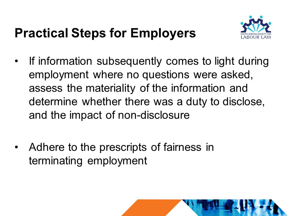 Practical Steps for Employers