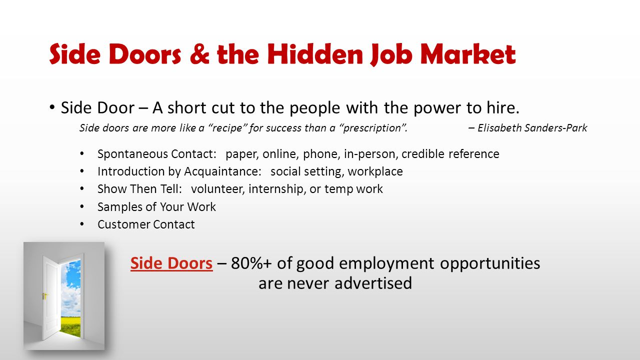 Side Doors & the Hidden Job Market