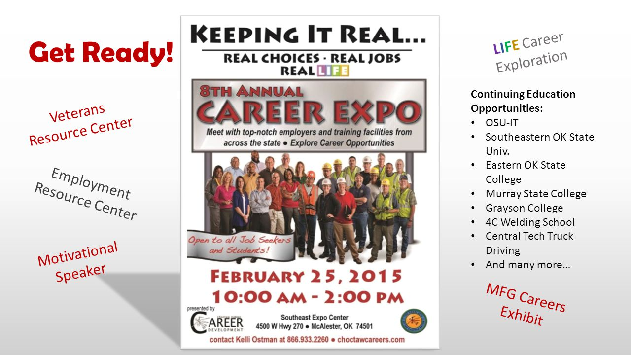 Get Ready! LIFE Career Exploration Veterans Resource Center