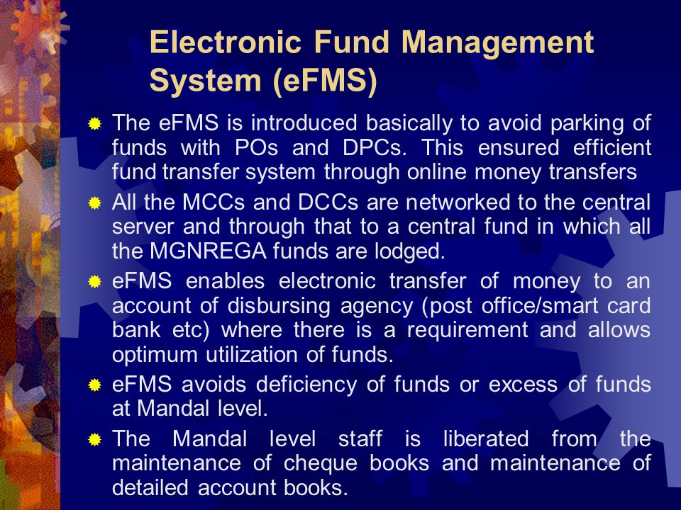 Electronic Fund Management System (eFMS)