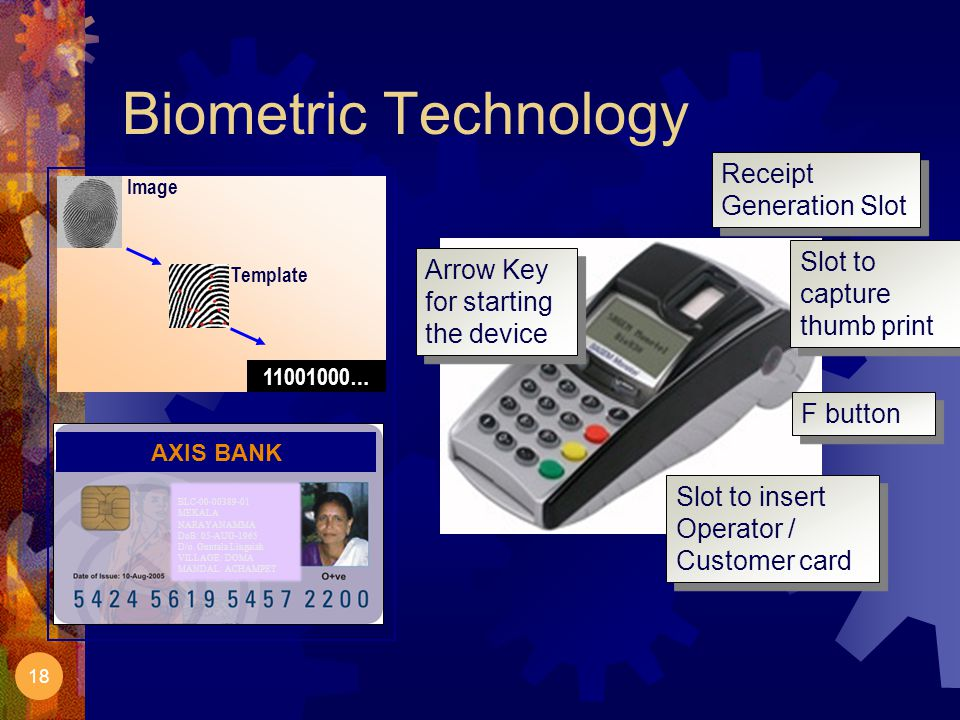 Biometric Technology Receipt Generation Slot