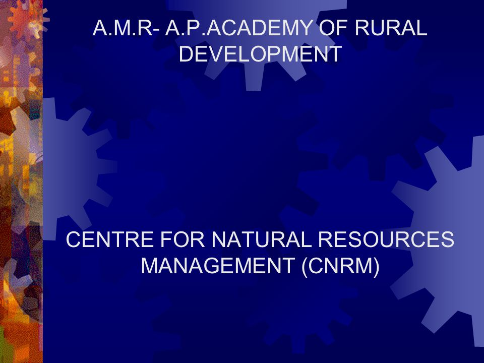 A.M.R- A.P.ACADEMY OF RURAL DEVELOPMENT