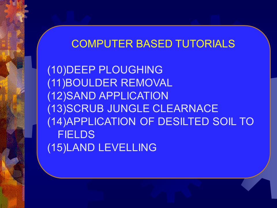 COMPUTER BASED TUTORIALS