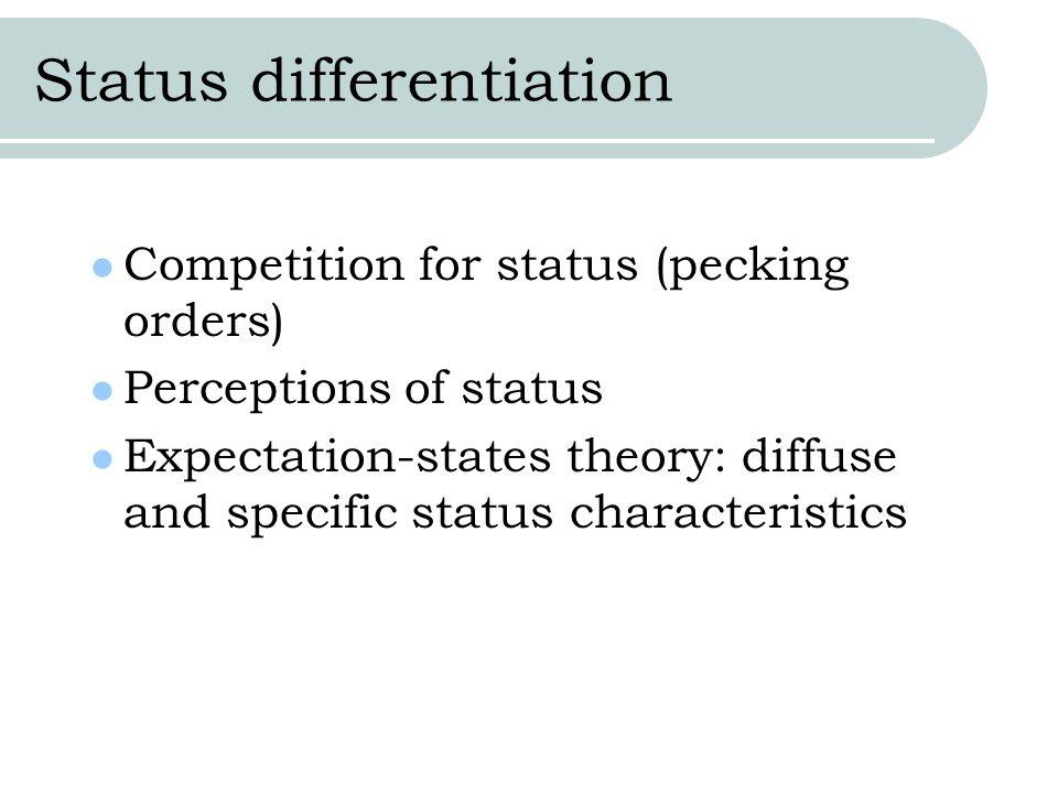 Status differentiation