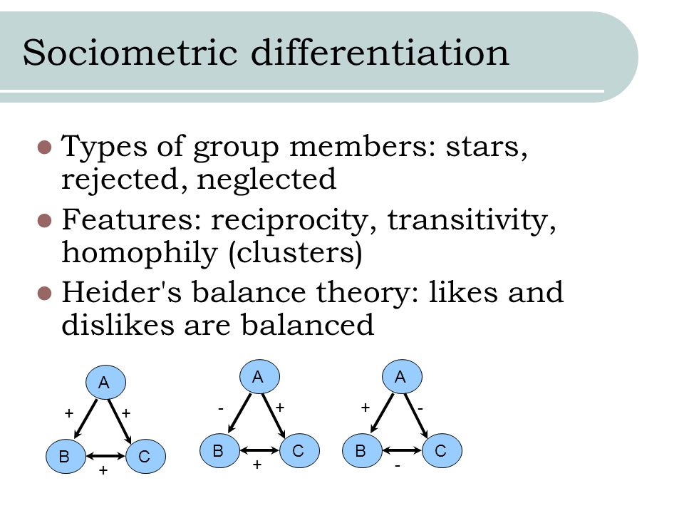 Sociometric differentiation
