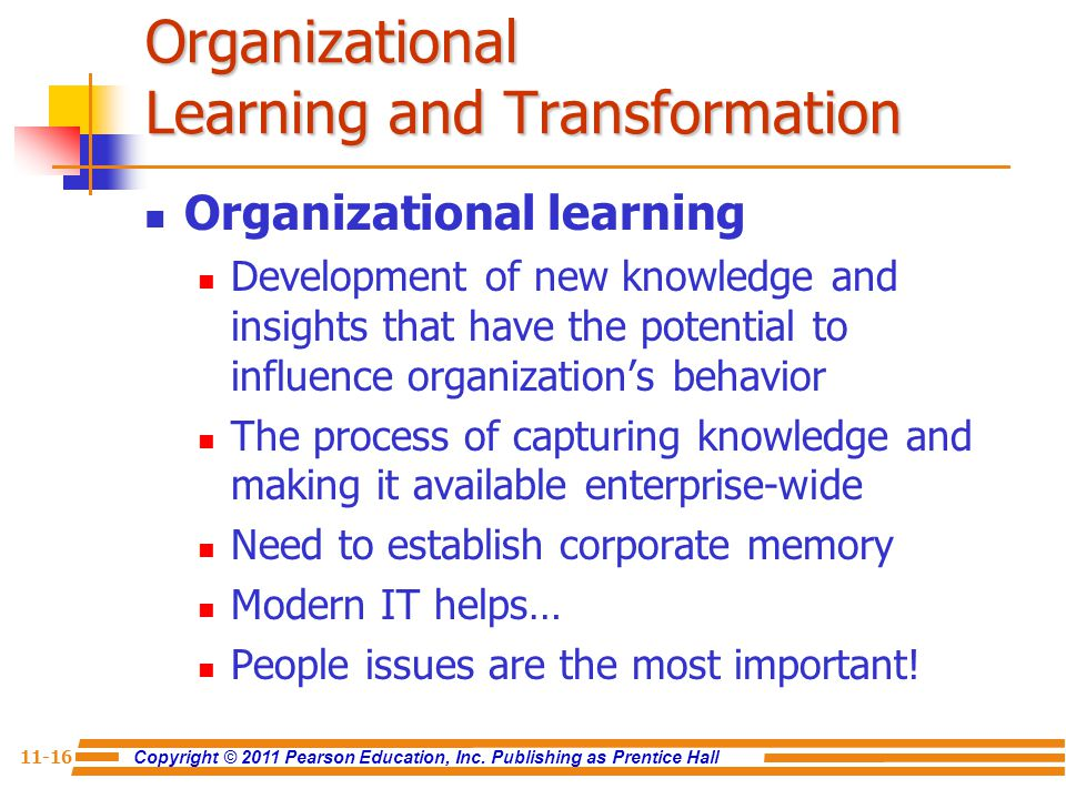 Organizational Learning and Transformation