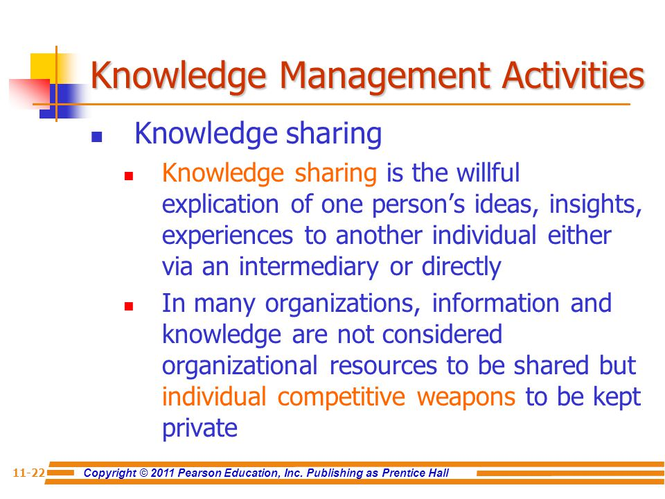 Knowledge Management Activities