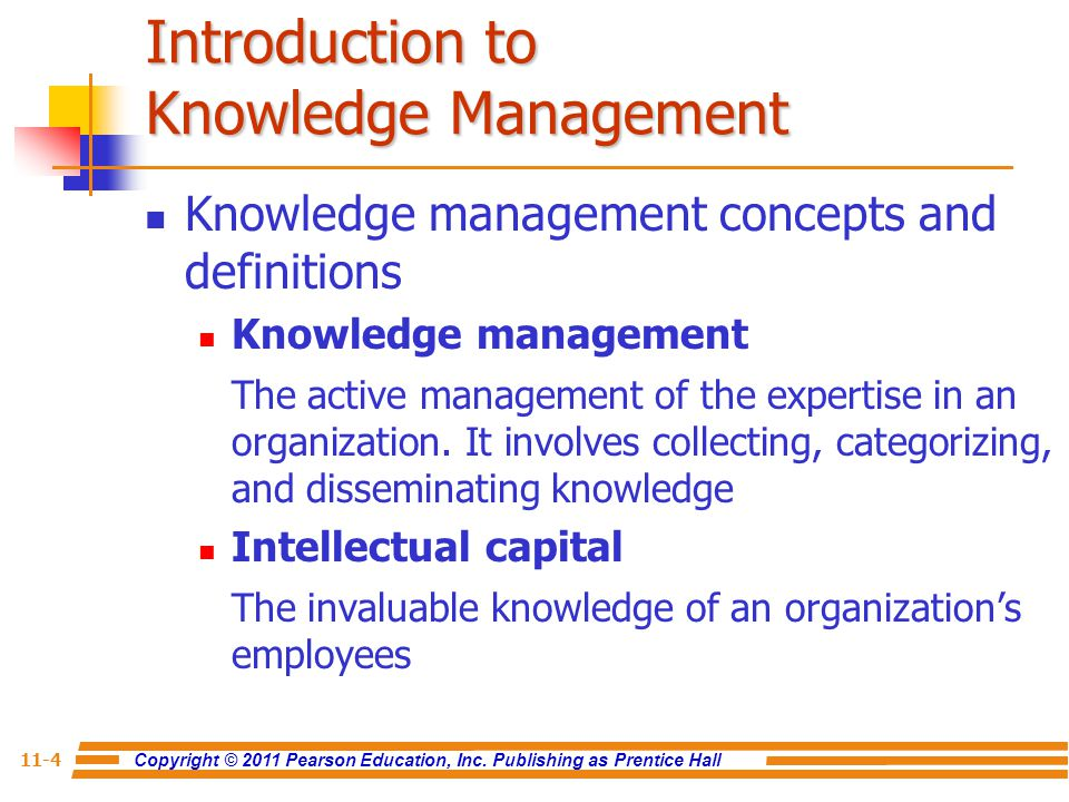 the knowledge and knowledge management